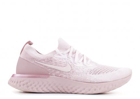 Nike Epic React Flyknit Wolf Grey Running Shoes Aq0070 002