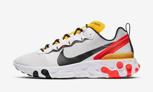Nike React Element 55 White Yellow Red