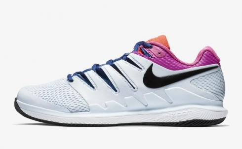 NikeCourt Air Zoom Vapor X Half Blue White Laser Fuchsia Black AA8030-401