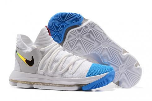 Nike Zoom KD X 10 Men Basketball Shoes White Blue