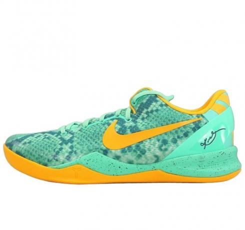 Nike Kobe 8 - Green Glow Laser Orange
