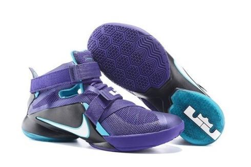 sports shoes 35f68 da6a6 Nike LeBron Soldier IX Men Basketball Shoes Charlotte Hornets Court Purple  749417-510
