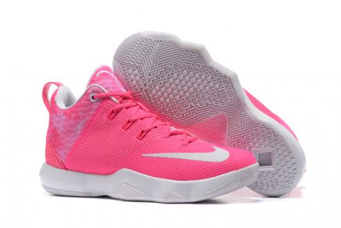 Nike Zoom Soldier 9 IX pink white Men Basketball Shoes