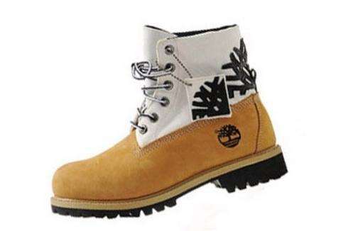 Mens Timberland Wheat White Roll-top