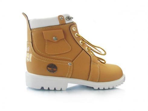 Timberland Men Custom 6 inch Premium Boots Wheat White