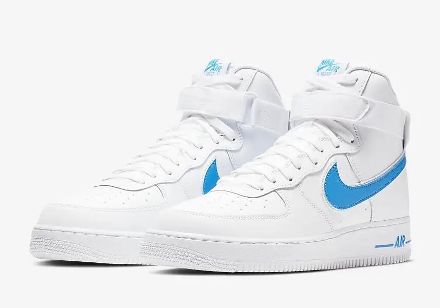 Nike Air Force 1 High 07 3 White Photo Blue White AT4141-102 - Sepsale