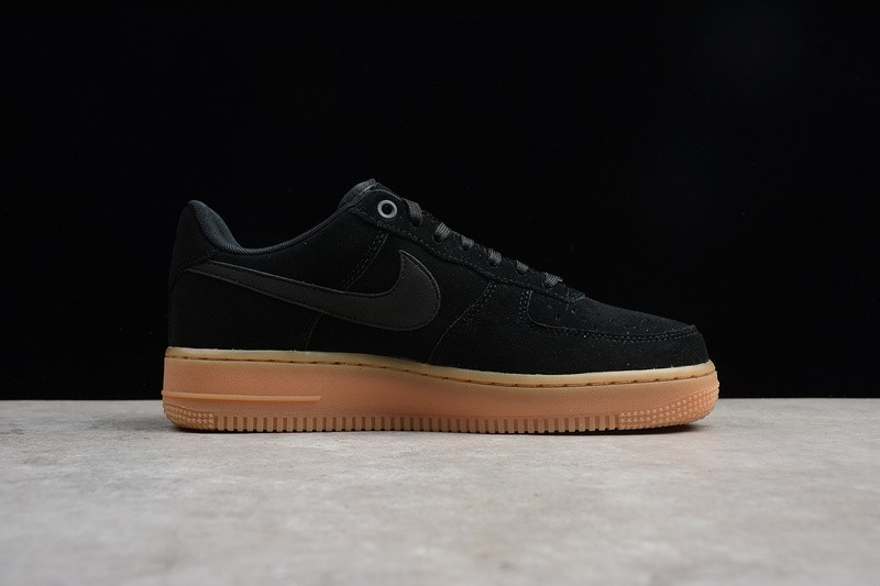 cheaper casual shoes new lower prices Air Force 1 07 LV8 SUEDE Black Gum Medium Brown AA1117-001 - Sepsale