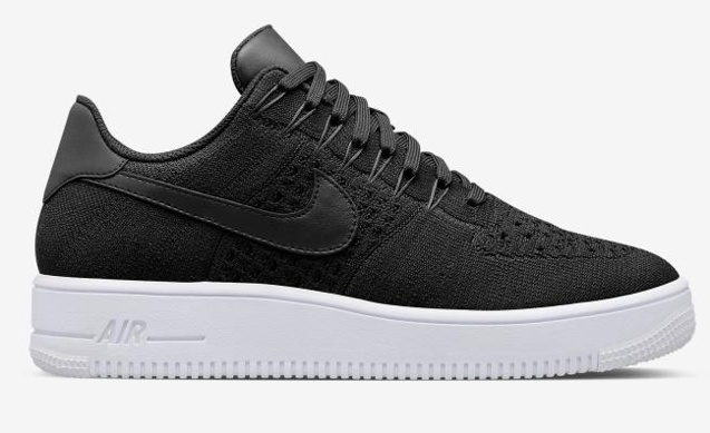Nike Air Force 1 Ultra Flyknit Low Black All Black NSW HTM Lifestyle Shoes 817419 005
