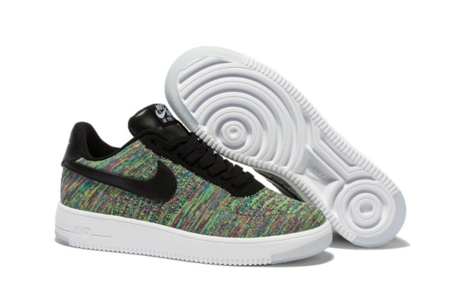 uk availability adc64 0e729 Prev Nike Men Air Force 1 Low Ultra Flyknit Green Blue Purple Multi Color  817419. Zoom