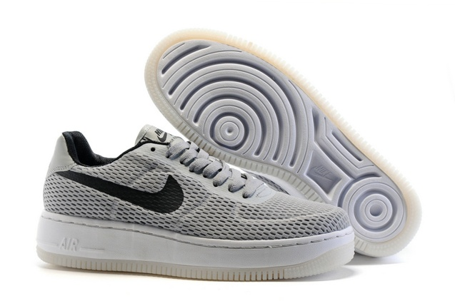 230379c2604 Prev Nike Air Force 1 AF1 Low Upstep BR Sneakers Shoes Light Grey Black  833123. Zoom