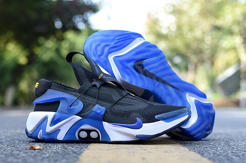 Nike Adapt Huarache Black Racer Blue White Bv6397 002 Sepsale