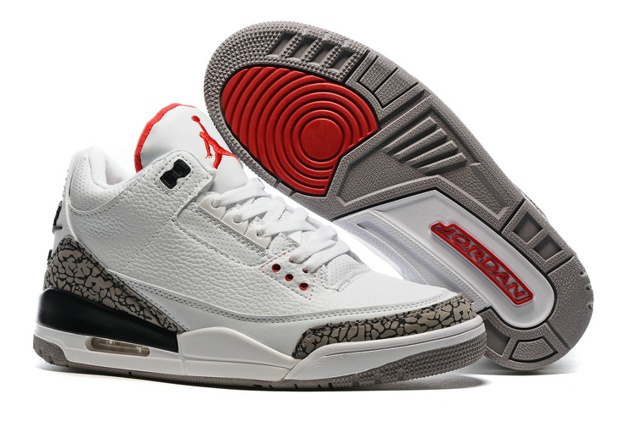 a87db37c309 Prev Nike Air Jordan III 3 White Fire Red Cement Grey Black Men Basketball  Shoes 136064-. Zoom