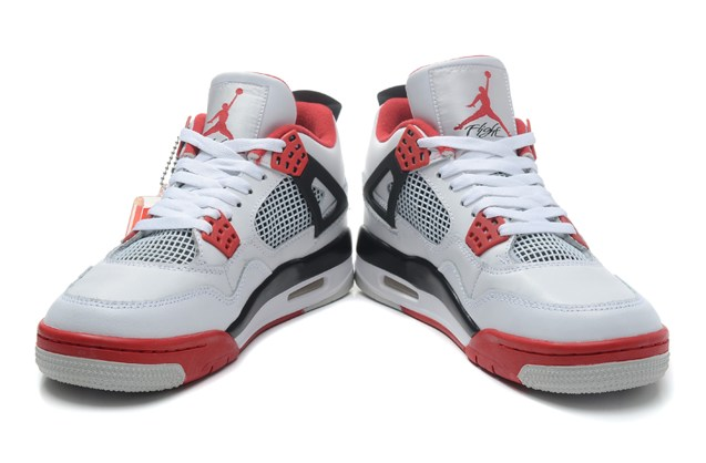 finest selection 46c58 8441f ... Nike Air Jordan Retro 4 IV Fire Red White Fear Bred Thunder 308497 110  ...