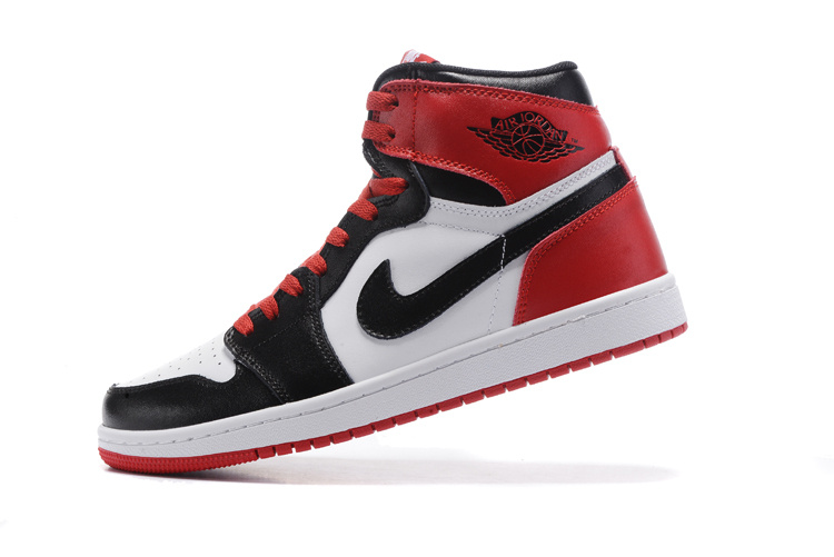 Nike Air Jordan I 1 Retro Basketball Shoes Red Black White