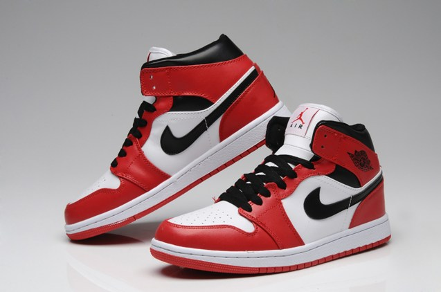 huge selection of 644a6 5eeca Prev Nike Air Jordan I 1 Retro High Shoes Leather White Red Black  555088-101. Zoom