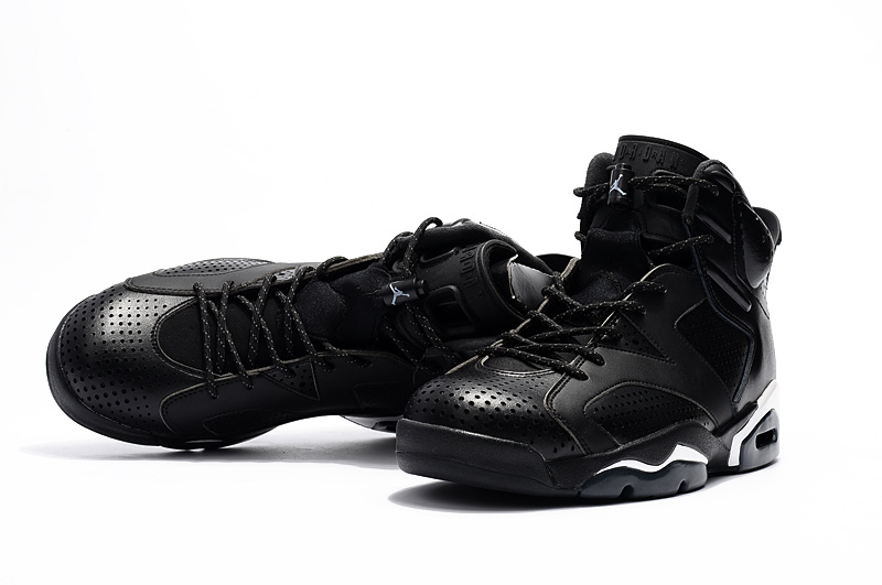 90bd4421fae ... Nike Air Jordan Retro VI 6 Black Cat Black White Men Shoes 384664-020  ...