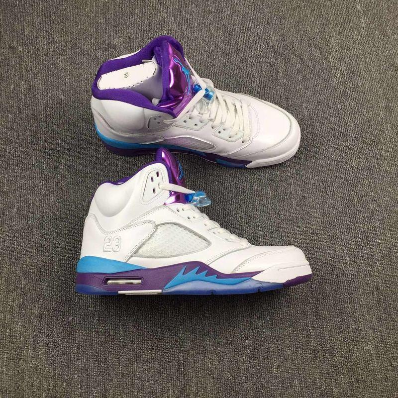 new product ef17d 9903c Prev Nike Air Jordan V 5 High Retro White Purple Blue ...