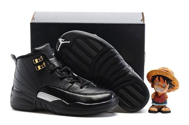 68b766d9c73 Nike Air Jordan Retro 12 The Master Black Metallic Gold BG GS 153265 ...