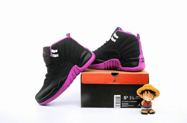 b65dc45d523 ... Nike Air Jordan 12 XII Retro GG Hyper Violet Kings Purple GS Women Shoes  510815- ...