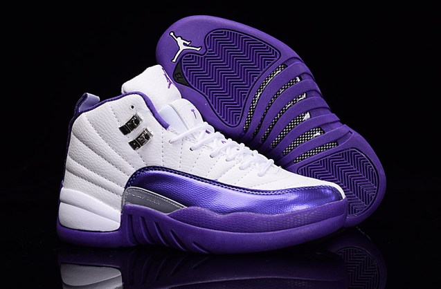 new arrival fc5e3 86621 Prev Nike Air Jordan XII 12 Retro White Silver Purple Grapes Women Shoes  510815 112. Zoom