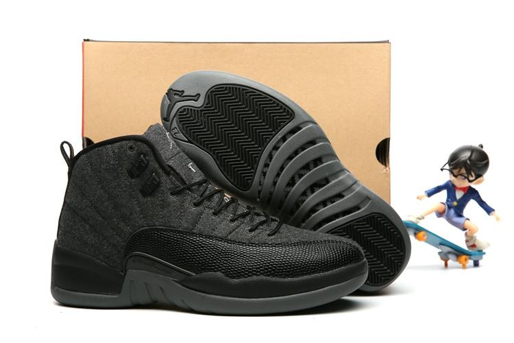 online store 001f0 62f17 Prev Nike Air Jordan 12 XII Retro Black Grey Wool Men Basketball Shoes  852627-003. Zoom