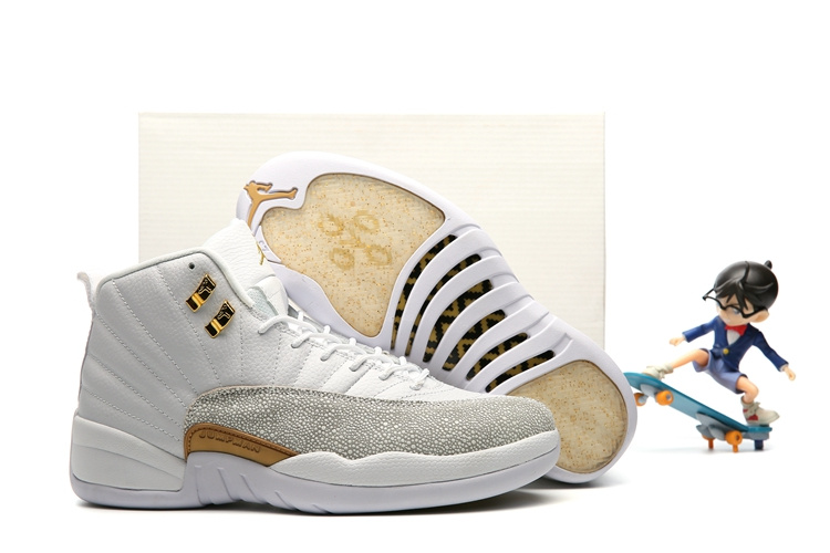 798f0d6d8c7 Nike Air Jordan 12 XII Retro OVO White Gold Wings Men Basketball ...