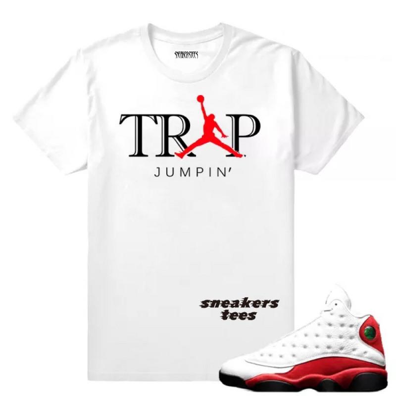 90fe74d5152 Prev Match Jordan 13 OG Chicago Trap Jumpin White T-shirt. Zoom
