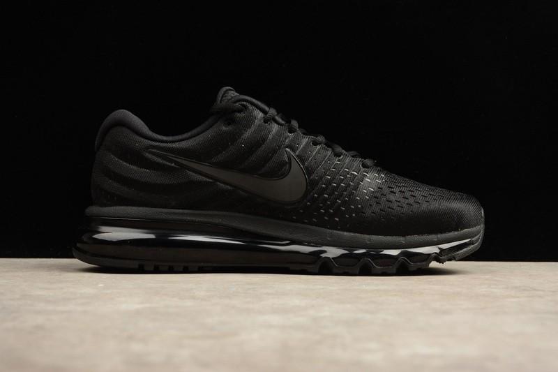 855b1191 Nike Air Max 2017 Running Shoes All Black 855615-995 - Sepsale