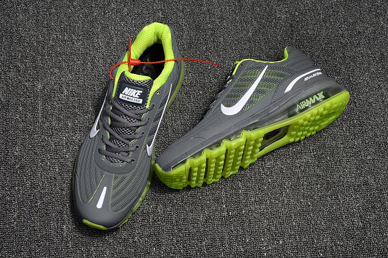 Nike Air Max 360 KPU Running Shoes Men Light Grey Green 310908 014
