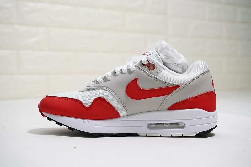 5478ac57cc Prev Nike Air Max 1 OG Anniversary White University Red Neutral Grey Black  908375-103. Zoom
