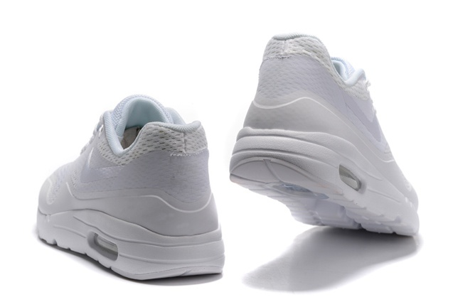 Nike Air Max 1 Ultra Essential Running Sneakers Pure White Shoes 819476 107