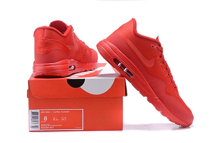 Nike Air Max 1 Ultra Flyknit 843384 601 | Czerwony