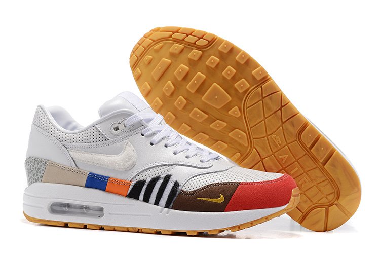 celestial voluntario Misterioso  Nike Air Max 87 Colorful White Orange Red Green Leopard Blue Yellow Unisex  Running Shoes - Sepsale