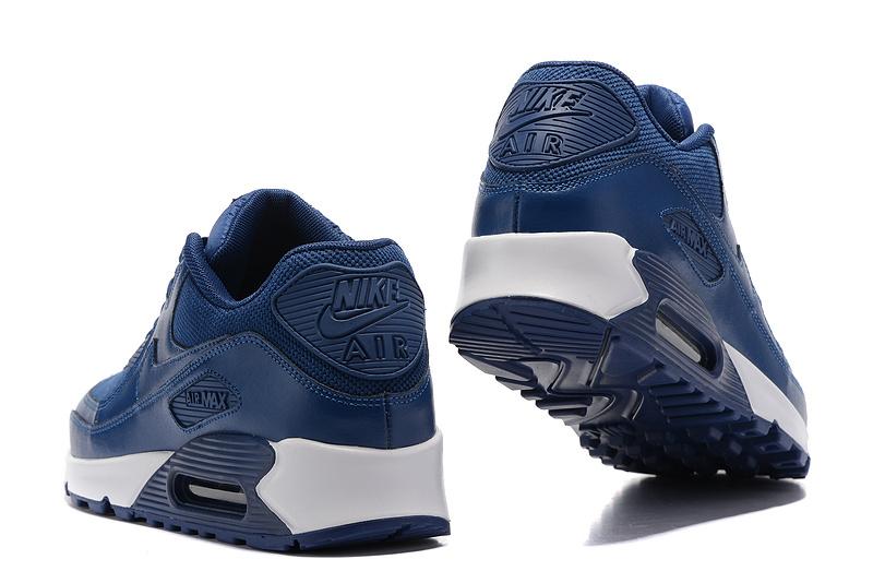 Nike Air Max 90 deep blue white Running Shoes 537394-115