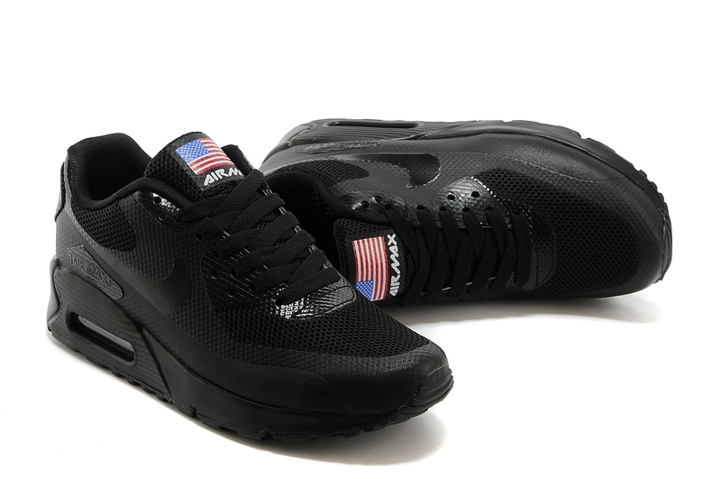 Nike Air Max 90 Hyperfuse QS Sport USA Black July 4TH Independence Day 613841 001