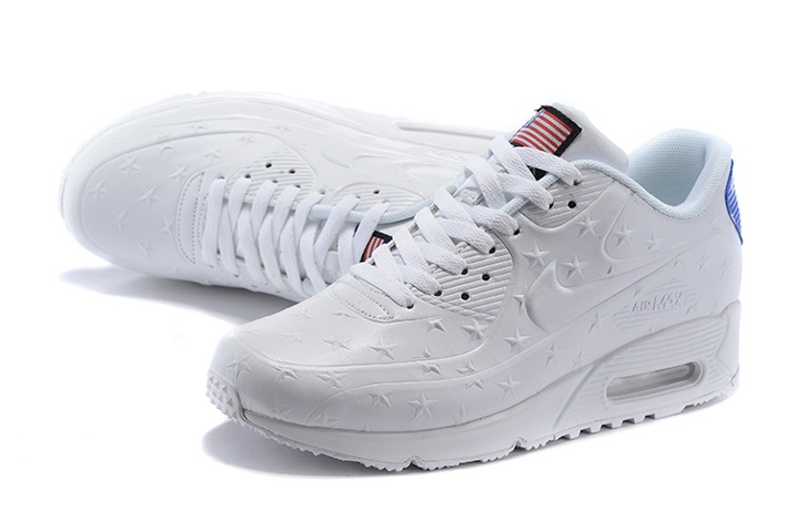d04c52393e ... Nike Air Max 90 VT USA Independance Day Men Shoes White Dot 472489-060  ...