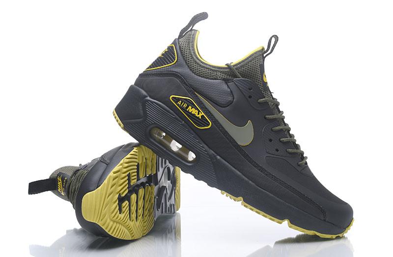 NIKE AIR MAX 90 NS GPX Mid Men Shoes Black Yellow