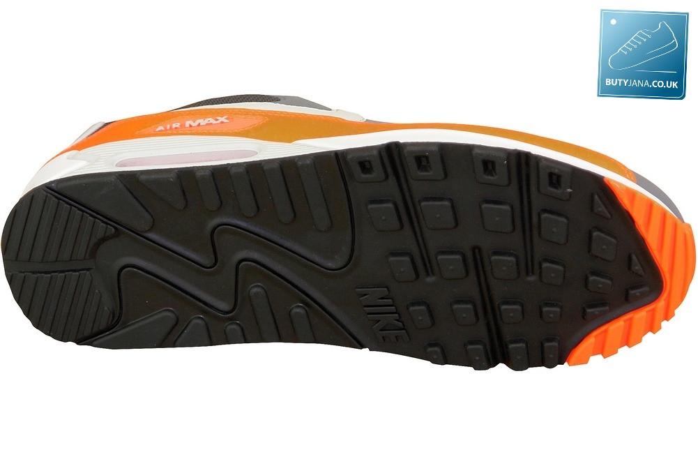 Nike Air Max 90 Essential Cool Grey Pure Platinum Total Orange Anthracite 537384-038
