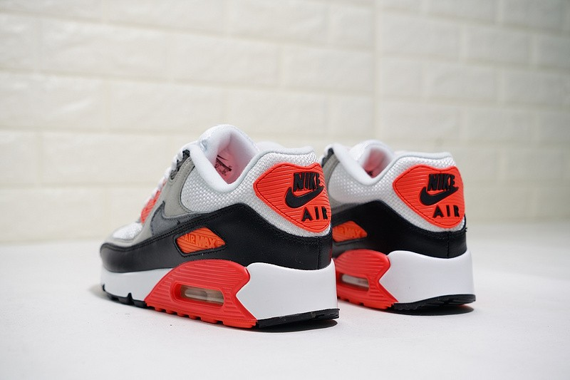 Nike Air Max 90 OG Infrared White Black Grey Cement Infrared 725233 106