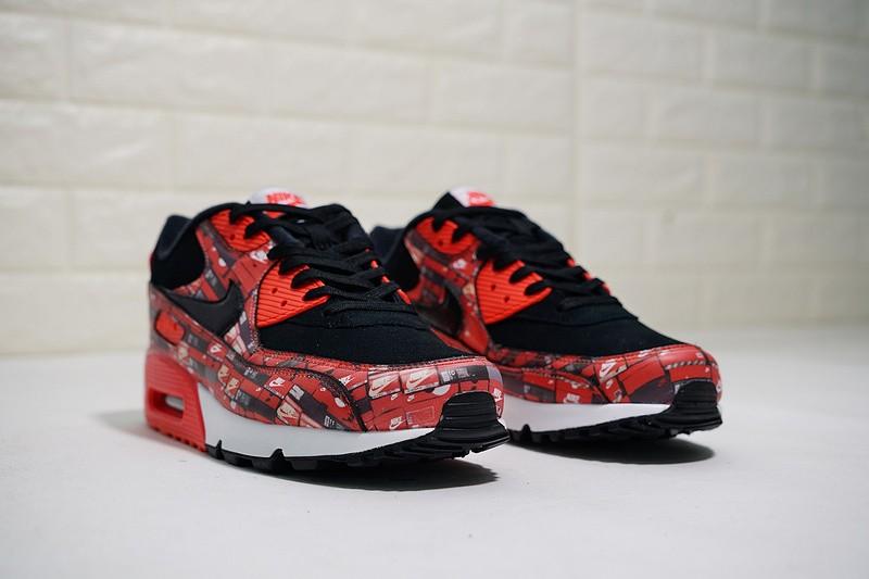 best website b1292 9d6c9 Nike Air Max 90 Prnt We Love Nike Crimson Bright Black White AQ0926-001