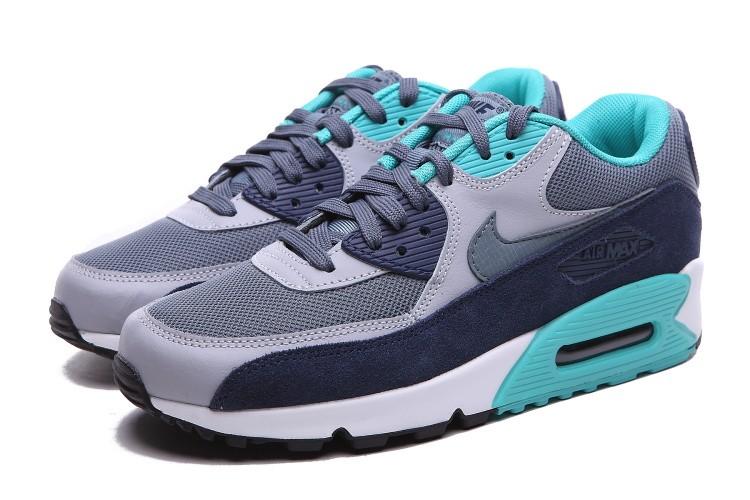 Nike Air Max 90 Essential Blue White Black Grey 537384 408