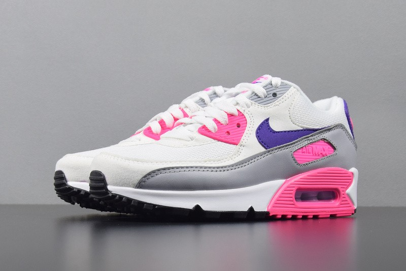 Nike Air Max 90 Essential Grey White Pink Purple Varsity