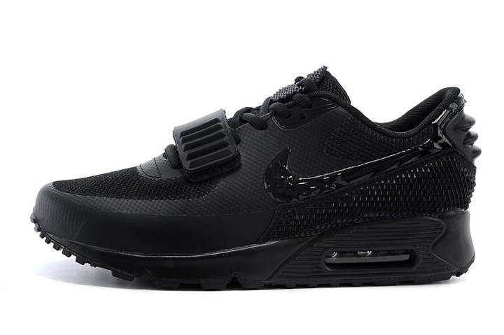 cheaper b541c eb7a7 Nike Air Max 90 Air Yeezy 2 SP Casual Shoes Lifestyle Sneakers All Black  508214- ...