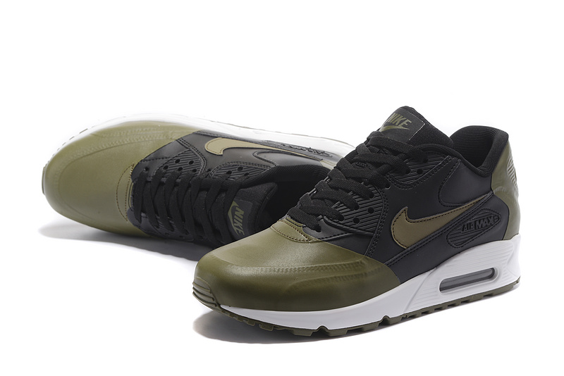 Nike Air Max 90 Premium SE army green black Men running shoes 858954 005