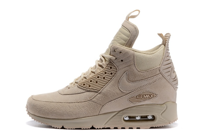 half off 4e57b 828f3 Nike Air Max 90 Sneakerboot Winter Suede All Rice White 684714-021