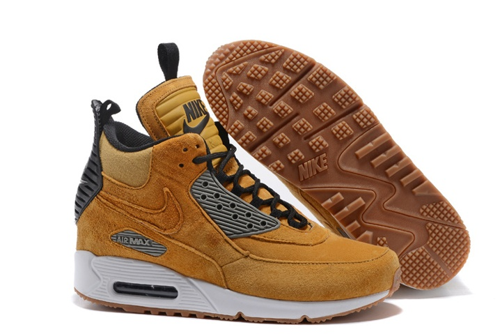 sports shoes a8fdd 7ba3d Nike Air Max 90 Sneakerboot Winter Suede Wheat Black 684714-017 ...