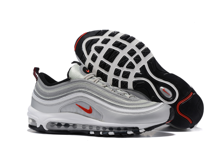 superior quality 612f1 b5921 Prev Nike Air Max 97 White Silver Grey Black Men Running Shoes Sneakers  Trainers 312641-059. Zoom