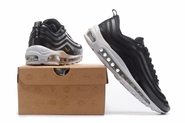 Nike Air Max 97 Black White Men Running Shoes Sepsale