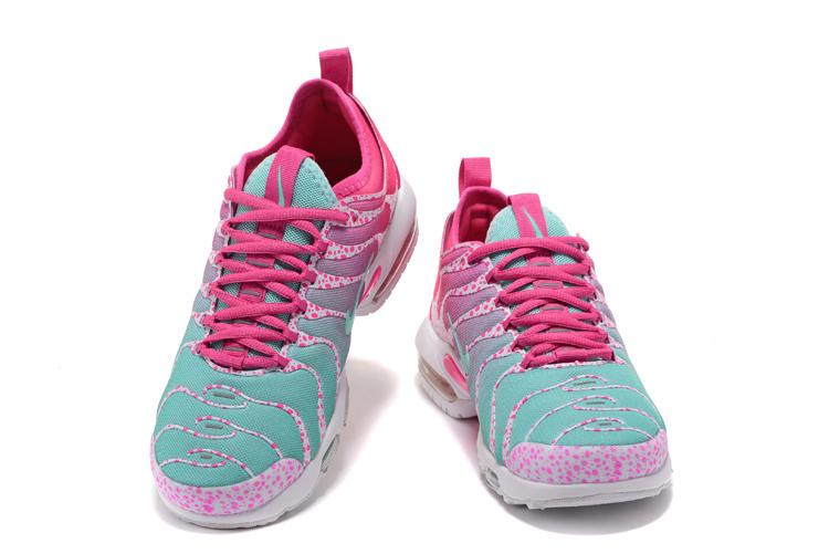 Nike Air Max Plus Tn Ultra Running Shoes Women Green Pink White