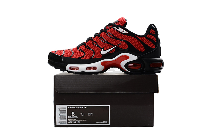 release date: c1e01 01960 ... Nike Air Max Plus TXT TN KPU Black Red Men Sneakers Running Trainers  Shoes 604133- ...